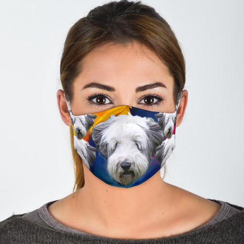 Lovely Bearded Collie Print Face Mask