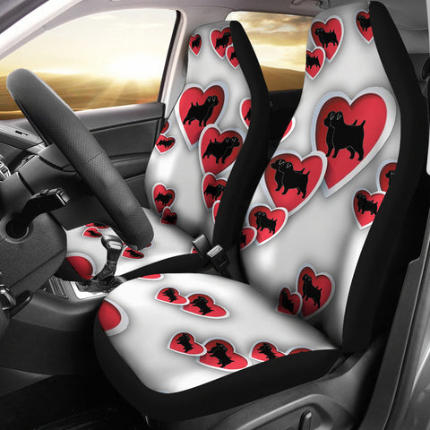 Norfolk Terrier Dog In Heart Print Car Seat Covers