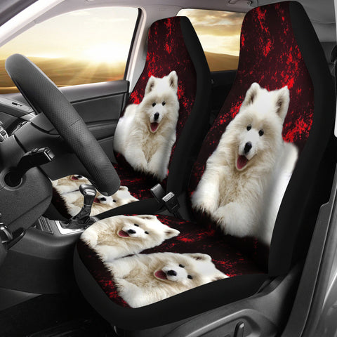Samoyed Dog Print Car Seat Covers