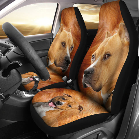 American Staffordshire Terrier Print Car Seat Covers