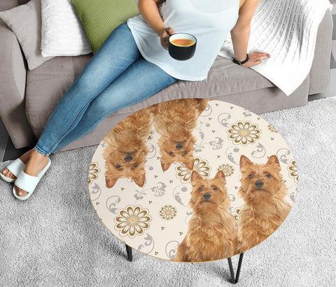 Australian Terrier Print Circular Coffee Table