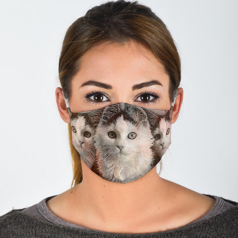 Lovely Siberian Cat Print Face Mask