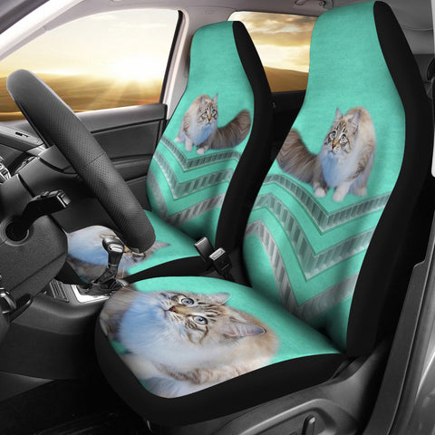 Ragamuffin cat Print Car Seat Covers