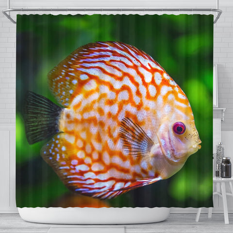 Discus Fish Print Shower Curtain