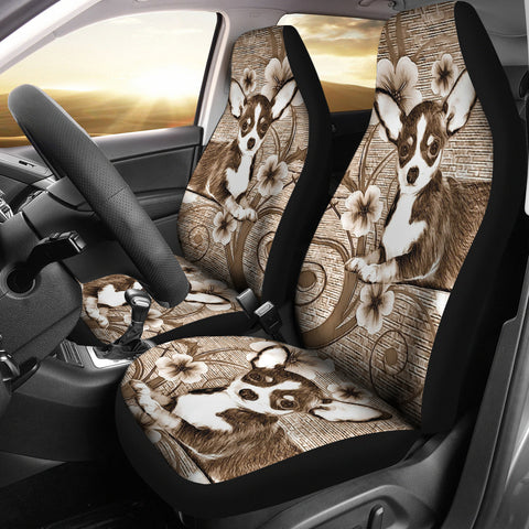 Cute Chihuahua Dog Print Car Seat Covers