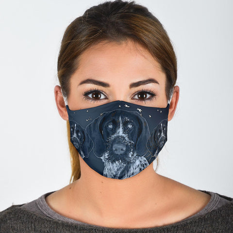 Cute German Wirehaired Pointer Print Face Mask