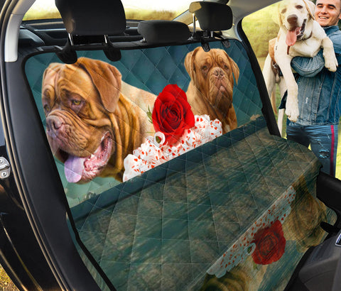 Cute Dogue De Bordeaux Print Pet Seat covers