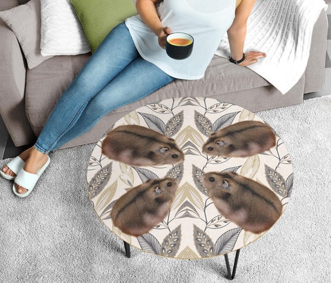 Campbell's Dwarf Hamster Print Circular Coffee Table