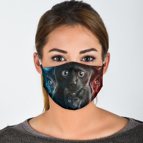 Amazing Bombay Cat Print Face Mask