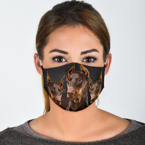 Dobermann Print Face Mask