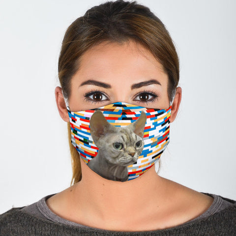 Devon Rex Cat Print Face Mask