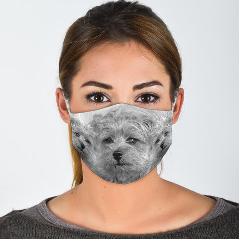 Cute Norfolk Terrier Print Face Mask