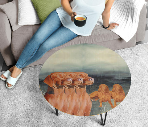 Cute Vizsla Dog Print Circular Coffee Table