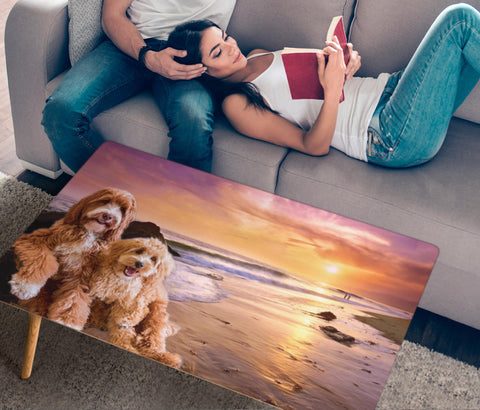 Goldendoodle Print Rectangular Coffee Table