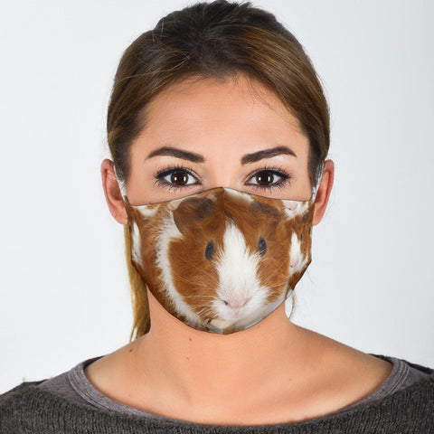 Abyssinian Guinea Pig Print Face Mask