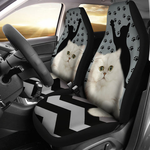 Persian Cat Paws Print Car Seat Covers