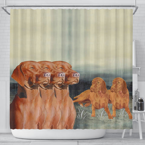 Vizsla Dog Print Shower Curtain
