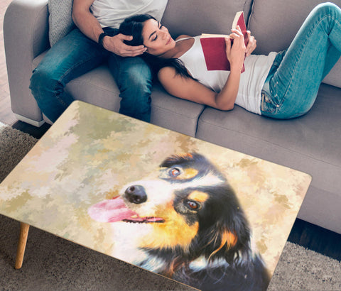 English Shepherd Dog Print Rectangular Coffee Table