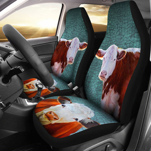 Hereford Cattle (Cow) Print Car Seat Covers
