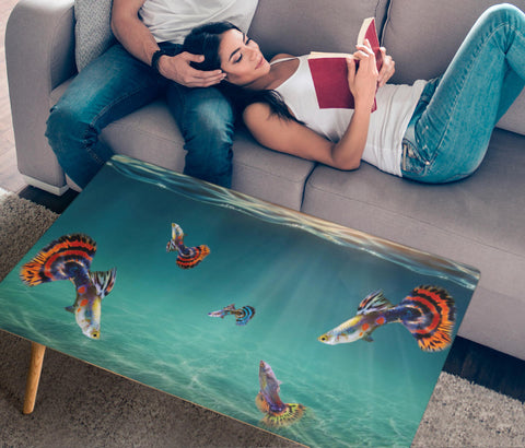 Guppy Fish Print Rectangular Coffee Table