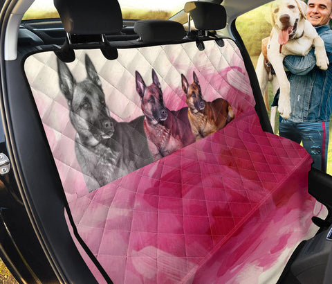 Lovely Belgian Malinois On Pink Print Pet Seat Covers
