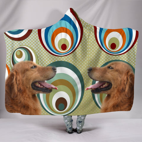 Cute Golden Retriever Print Hooded Blanket
