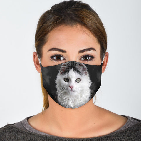 Siberian Cat Print Face Mask