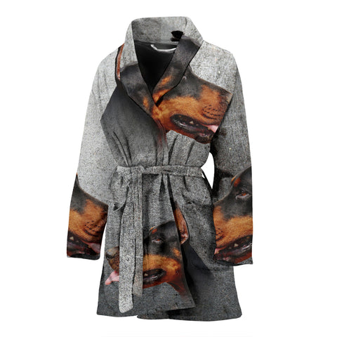 Doberman Pinscher Print Women's Bath Robe
