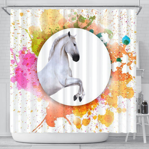 Lipizzan Horse Print Shower Curtain