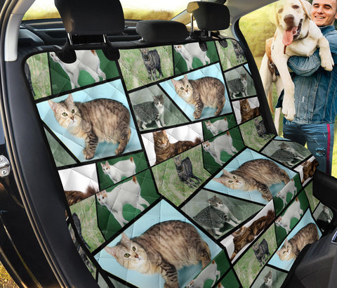 Cute Manx Cat Collage Print Pet Seat Covers
