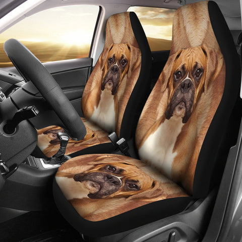 Amazing Boxer Dog Print Car Seat Covers
