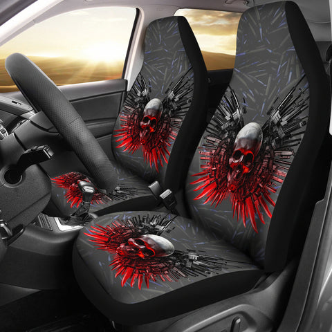Limited EditionGun And Skull Print Car Seat Covers