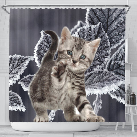 Cute American Bobtail Print Shower Curtains