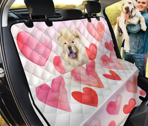 Chow Chow On Heart Print Pet Seat Covers