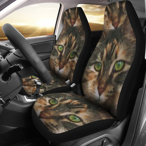 Maine Coon Cat Print Car Seat Covers