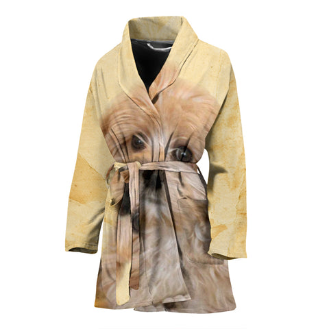 Cavapoo Print Women's Bath Robe