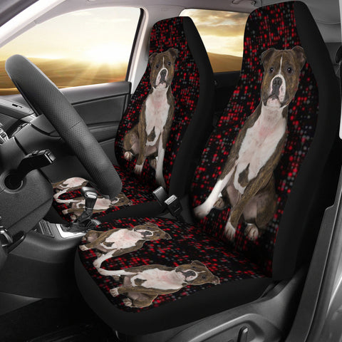 Staffordshire Bull Terrier Print Car Seat Covers