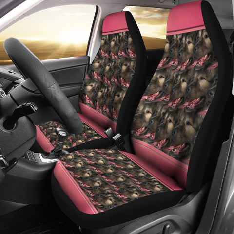 Caucasian Shepherd Dog In Lots Print Car Seat Covers