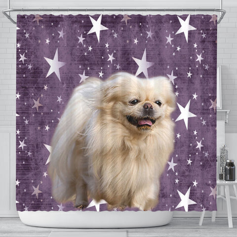 Cute Pekingese Dog Print Shower Curtains