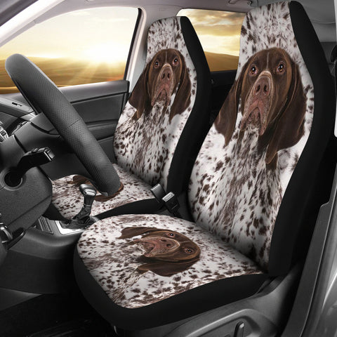 German Shorthaired Pointer Dog Print Car Seat Covers