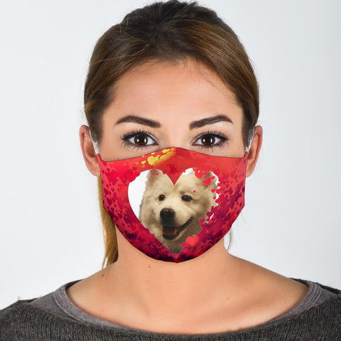 American Eskimo Dog Print Face Mask