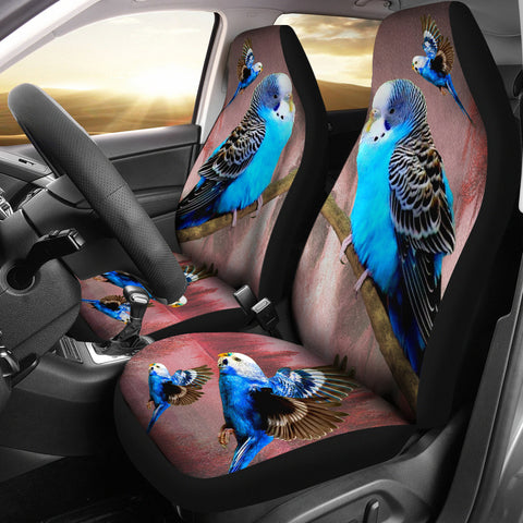 Blue Budgie (Budgerigar) Bird Print Car Seat Covers