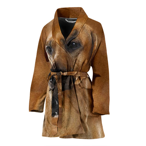 Rhodesian Ridgeback Dog Print Women's Bath Robe