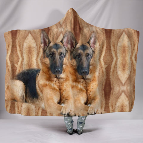 Amazing German Shepherd dog Print Hooded Blanket