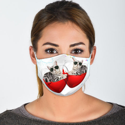 Cute American Shorthair Cats Print Face Mask