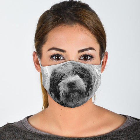 Spanish Water Dog Print Face Mask