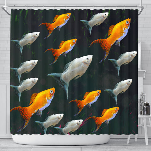Molly Fish (Poecilia Sphenops) Print Shower Curtains