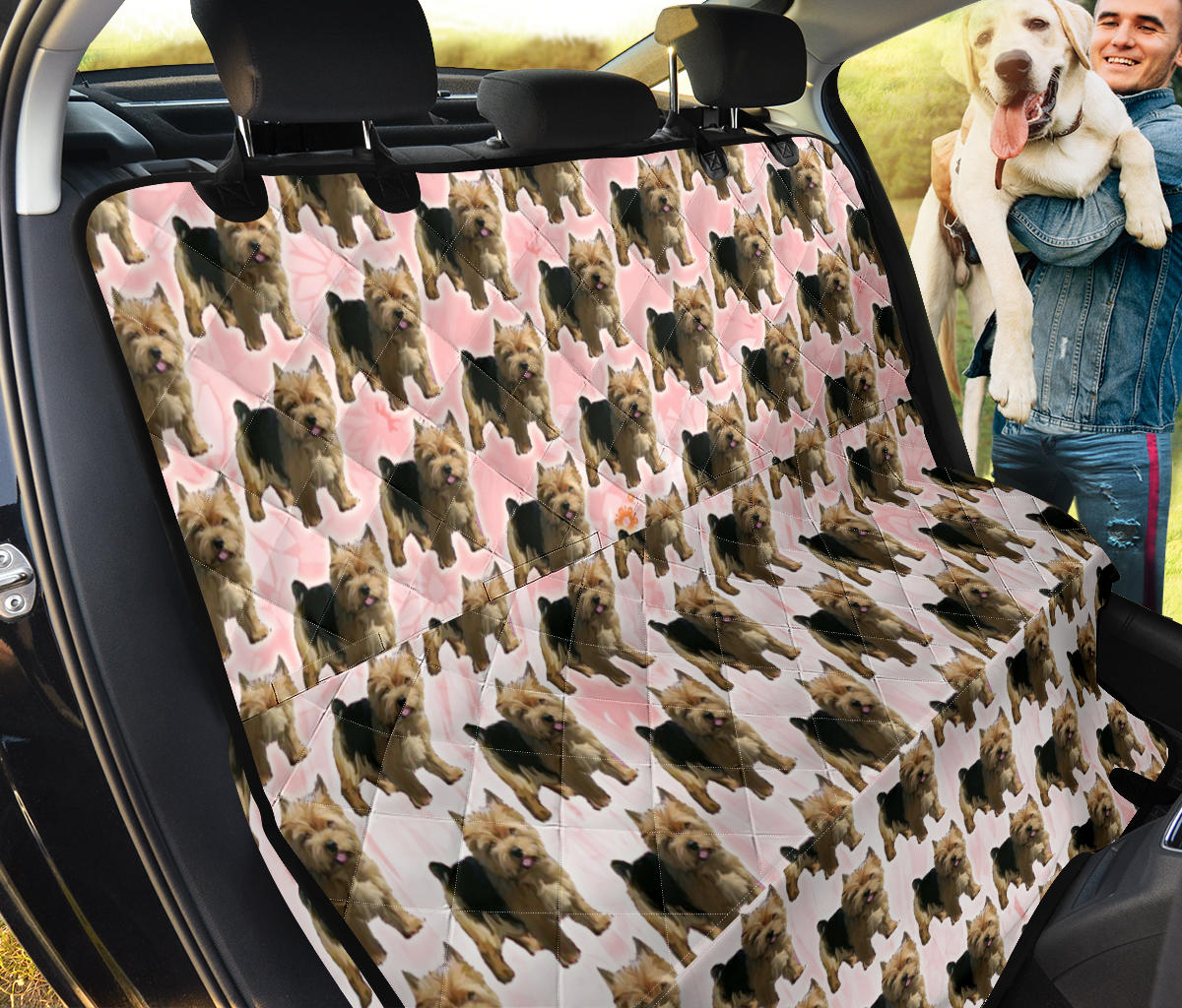 Norwich Terrier Pattern Print Pet Seat Covers
