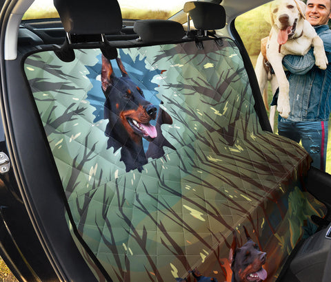 Doberman Pinscher Print Pet Seat Covers