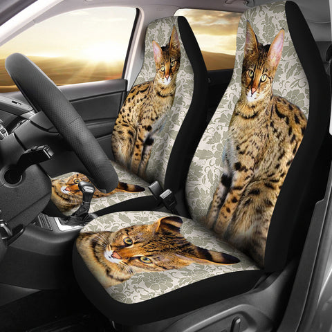 Savannah Cat Print Car Seat Covers